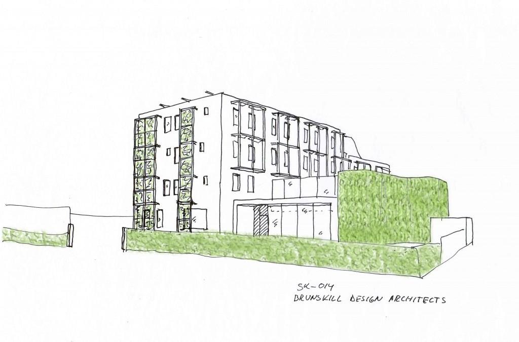 13203-SK-014 Green wall framework