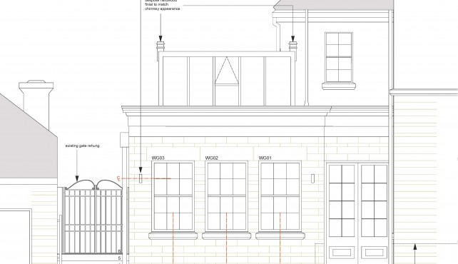 Construction Work has started on Classically designed extension