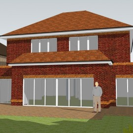 Planning Approval Gained for a Substantial New House in a Prestigious Location in the Home Counties