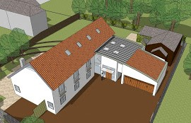 Approval achieved for new modern house on complex city site.