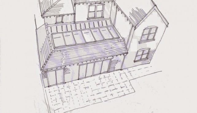 Planning permssion obtained for extension to character locally listed property.