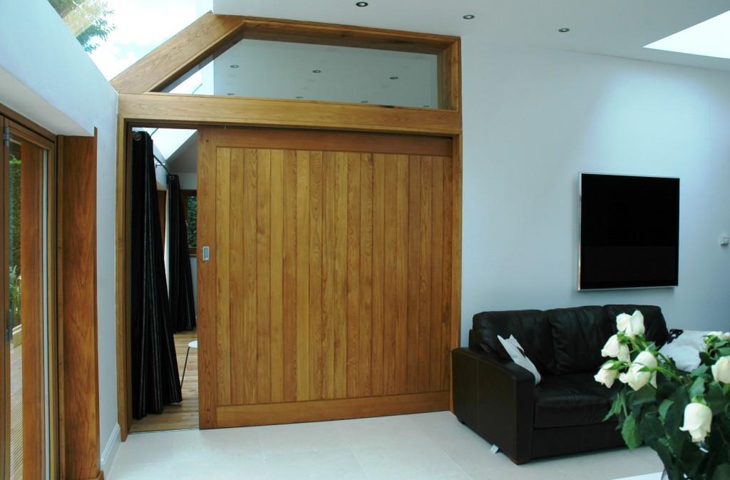 Extension project with sliding oak door - Copy - Copy 1