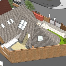 Development of 3 Apartments within renovated and reused substation
